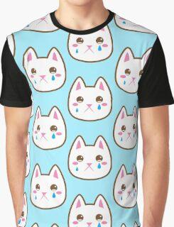 Super cute Chibi Kawaii kitten SAD :( Graphic T-Shirt