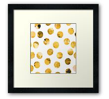 Hand drawn watercolor pattern  with watercolor golden spots. Framed Print