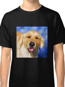 Samson - Golden Retriever dog art by Michelle Wrighton Classic T-Shirt