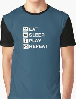 Guitar player loop (white) Graphic T-Shirt