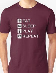 Guitar player loop (white) Unisex T-Shirt