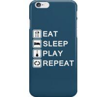 Guitar player loop (white) iPhone Case/Skin