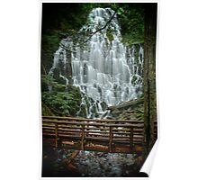 The Rustic Bridge At Ramona Falls Poster