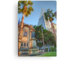 Old & New in Uptown Sydney Canvas Print