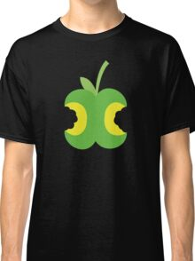 Twice bitten apple fruit with bites taken out Classic T-Shirt