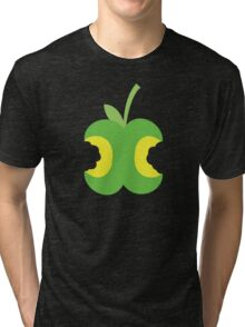 Twice bitten apple fruit with bites taken out Tri-blend T-Shirt