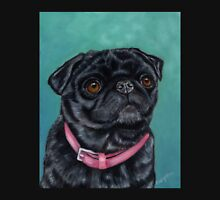 Pretty in Pink - Pug Dog oil painting by Michelle Wrighton Unisex T-Shirt