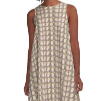 Four Heads in Brown A-Line Dress