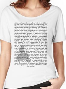 Read a book: Alice in Wonderland Women's Relaxed Fit T-Shirt