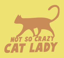 Not so CRAZY cat lady! Kids Tee