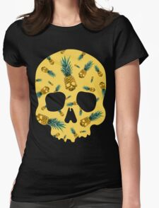 Skull Pineapple y Womens Fitted T-Shirt