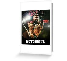 Notorious McGregor Greeting Card