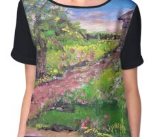 Church In The Woods Chiffon Top