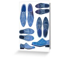 Blue Brogue Shoes Greeting Card