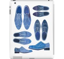 Blue Brogue Shoes iPad Case/Skin