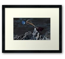 Lunar Warming Framed Print