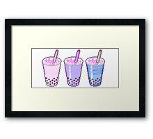 Pixel Milkshakes Framed Print