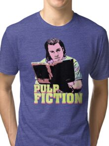 Vincent Vega Black Light Tri-blend T-Shirt