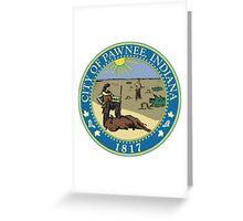 City of Pawnee, Indiana. Greeting Card