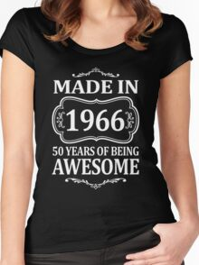 MADE IN 1966 50 YEARS OF BEING AWESOME  Women's Fitted Scoop T-Shirt