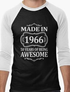 MADE IN 1966 50 YEARS OF BEING AWESOME  Men's Baseball ¾ T-Shirt
