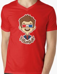 chibi!Allons-y Mens V-Neck T-Shirt