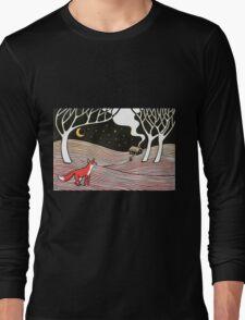 Stargazing - Fox in the Night Long Sleeve T-Shirt