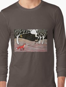 Stargazing - Fox in the Night Long Sleeve T-Shirt