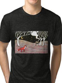 Stargazing - Fox in the Night Tri-blend T-Shirt