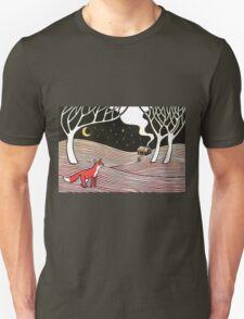 Stargazing - Fox in the Night Unisex T-Shirt