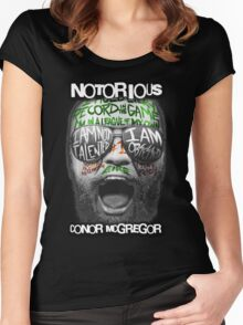 Conor McGregor Face Women's Fitted Scoop T-Shirt