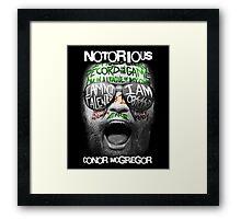 Conor McGregor Face Framed Print