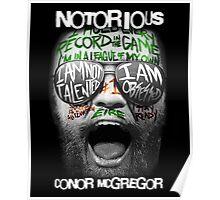 Conor McGregor Face Poster
