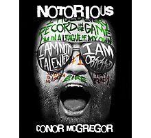 Conor McGregor Face Photographic Print