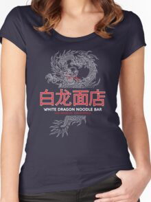 White Dragon Noodle Bar - ½ White Cut Mandarin Variant Women's Fitted Scoop T-Shirt