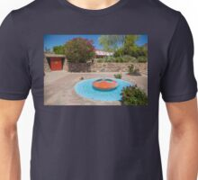 USA. Arizona. Scottsdale. Taliesin West. Fountain. Unisex T-Shirt