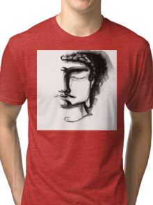 BLACK & WHITE BUDDHA Tri-blend T-Shirt