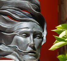USA. Arizona. Scottsdale. Taliesin West. Sculpture. Sticker