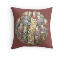 Circle of Men - Brown Throw Pillow