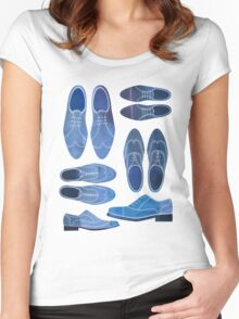 Blue Brogue Shoes Women's Fitted Scoop T-Shirt