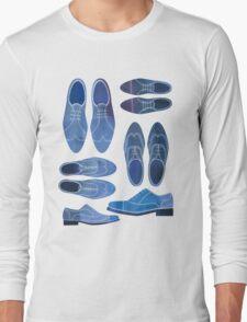 Blue Brogue Shoes Long Sleeve T-Shirt