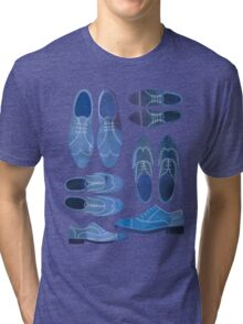 Blue Brogue Shoes Tri-blend T-Shirt