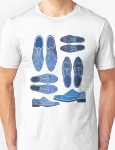 Blue Brogue Shoes Unisex T-Shirt