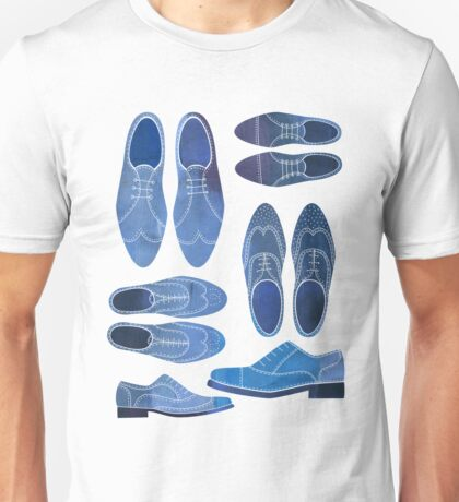 Blue Brogue Shoes Unisex T-Shirt
