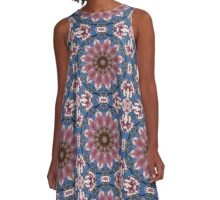 Spring blossoms,  Flower Mandala A-Line Dress