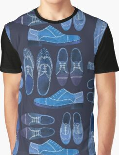 Blue Brogue Shoes Graphic T-Shirt