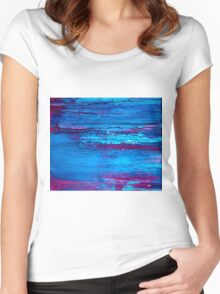 Abstract Marine Women's Fitted Scoop T-Shirt