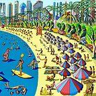 naive art painting folk art painter naif artist naife paintings  by raphael perez