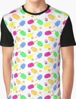 Summer Frozen Treats Graphic T-Shirt