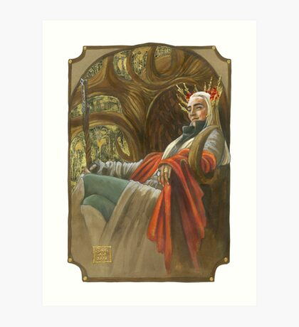 The Elf King throned Art Print
